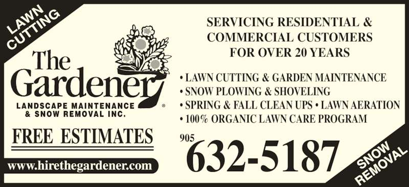the gardener burlington burlington on 10 1253 silvan