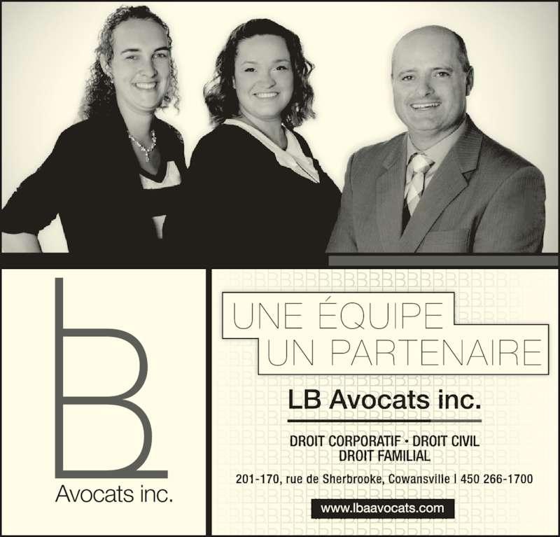 Landry Boucher Avocats inc (450-266-1700) - Annonce illustrée======= -