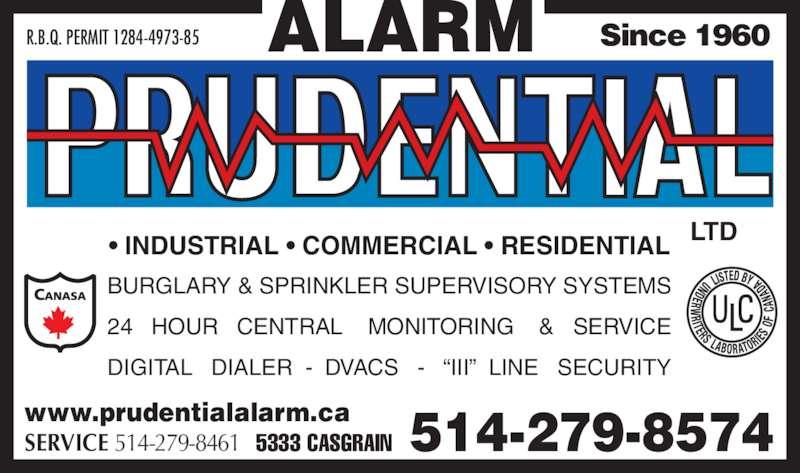 prudential syst mes d 39 alarme lt e 5333 av casgrain