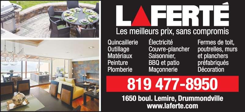 Laferté Ltée (819-477-8950) - Annonce illustrée======= -