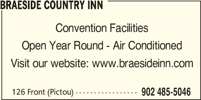 Braeside Inn Accommodations (902-485-5046) - Display Ad -