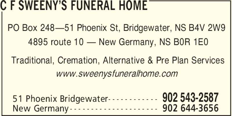 Ads Sweeny's Funeral Home