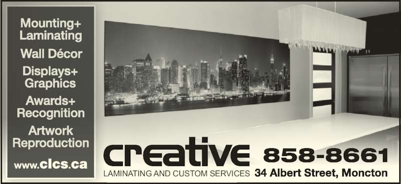 Creative Laminating And Custom Services (506-858-8661) - Display Ad - LAMINATING AND CUSTOM SERVICES