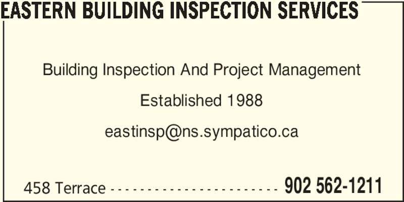 Building Inspection Services : Eastern building inspection services sydney ns