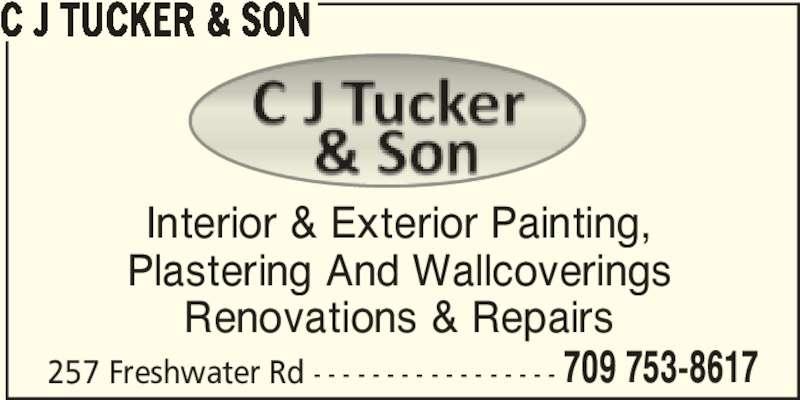 C J Tucker & Son (709-753-8617) - Annonce illustrée======= -