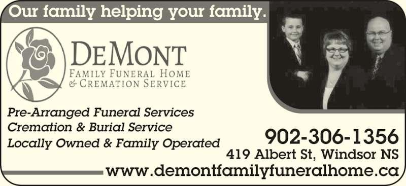 Demont Funeral Home Windsor Ns