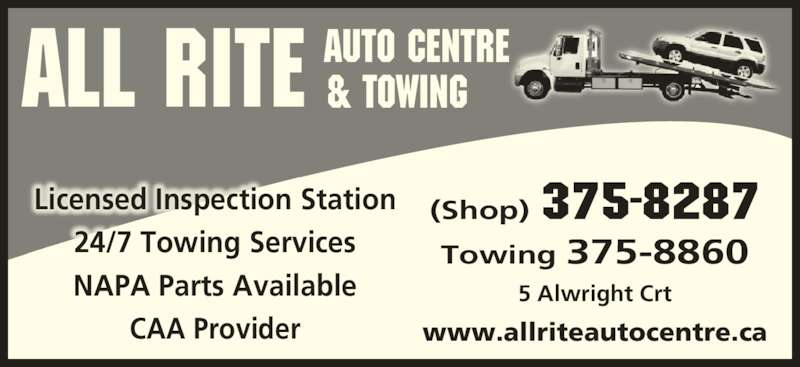 All Rite Auto Centre Amp Towing Opening Hours 5 Alwright