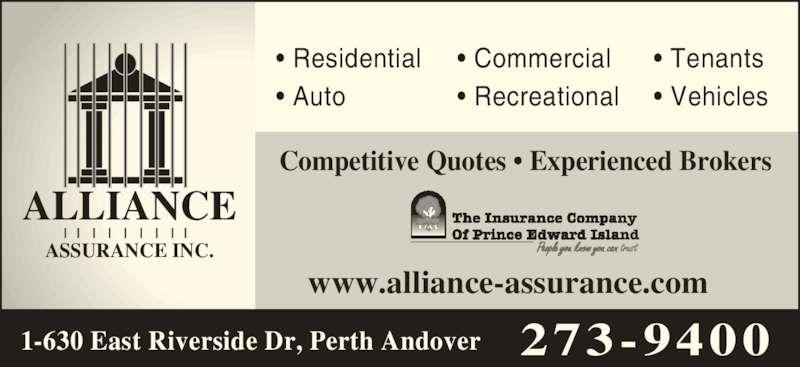 alliance assurance inc opening hours 1 630 east riverside dr perth andover nb. Black Bedroom Furniture Sets. Home Design Ideas