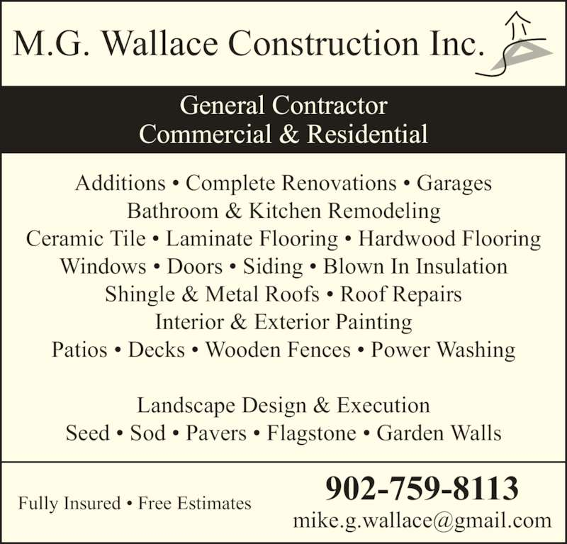 M G Wallace Construction Inc Opening Hours 265c