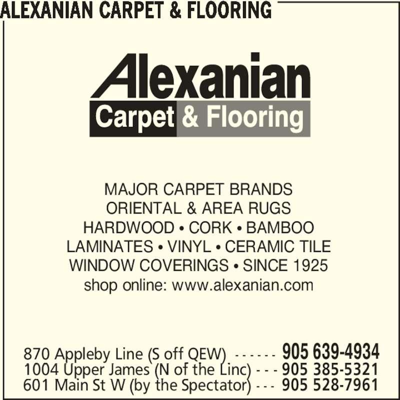 Alexanian Carpet Burlington On 870 Appleby Line