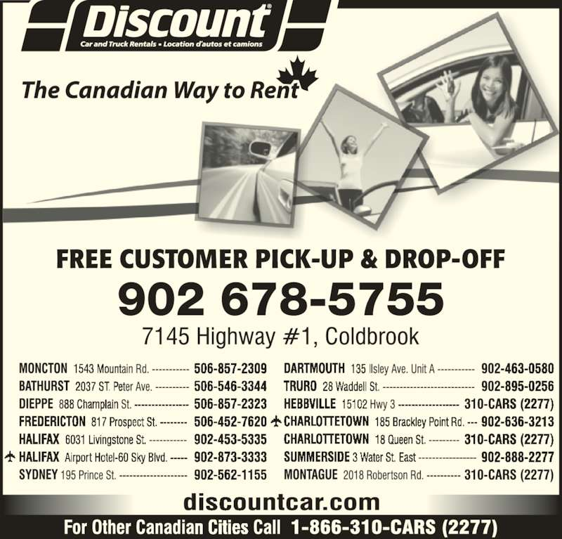 Discount Car Rental Coldbrook