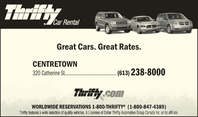 Ratings For Thrifty Car Rental
