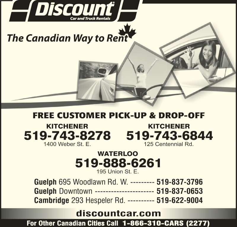 Discount Car Truck Rentals Kitchener On