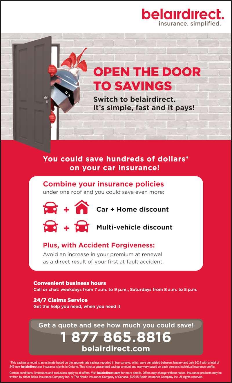 Belairdirect Car Insurance Hours