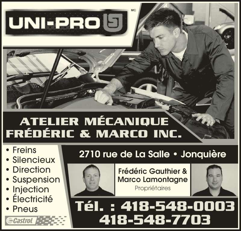 Atelier de m canique fr d ric marco inc jonqui re qc for Garage ad st laurent de la plaine