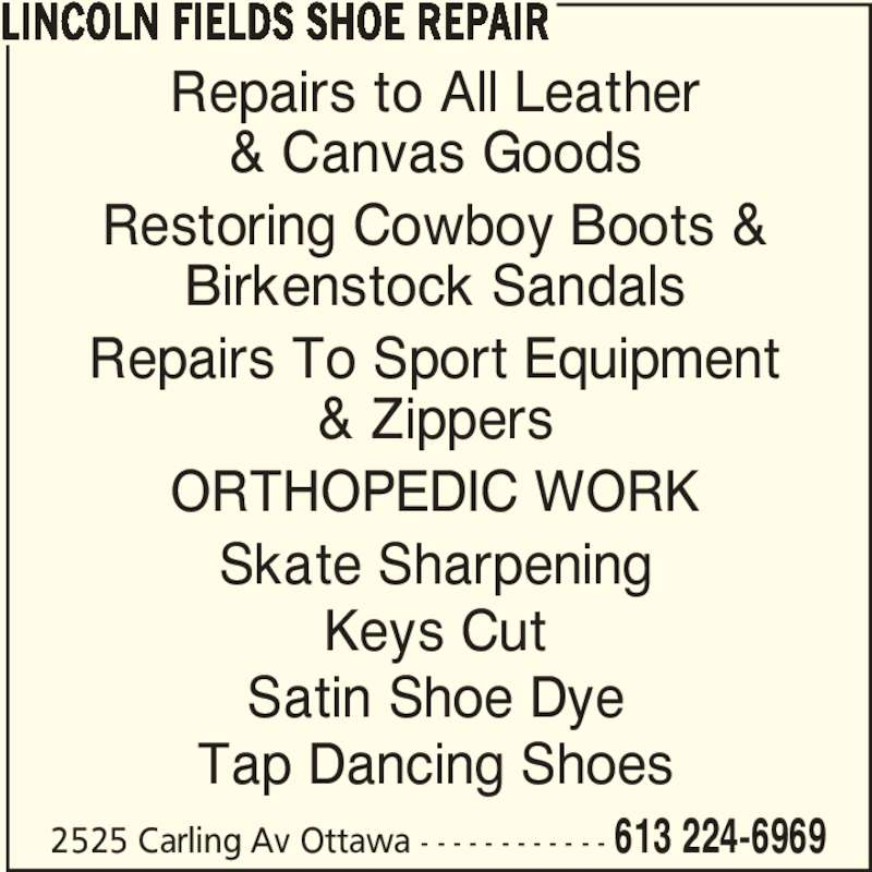Shoe Repairs On Lincoln Ave