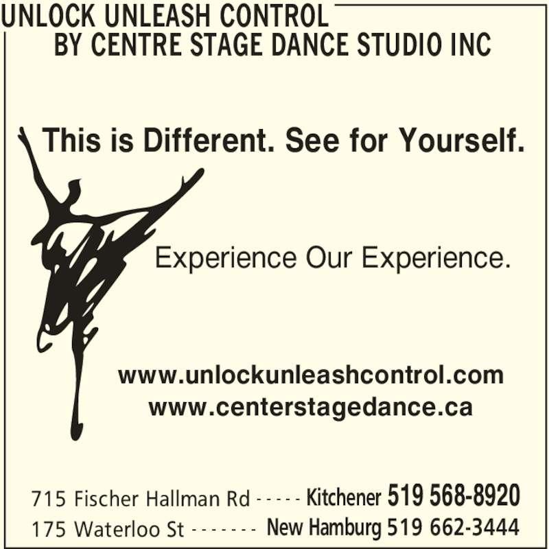 Unlock Unleash Control By Centre Stage Dance Studio Inc