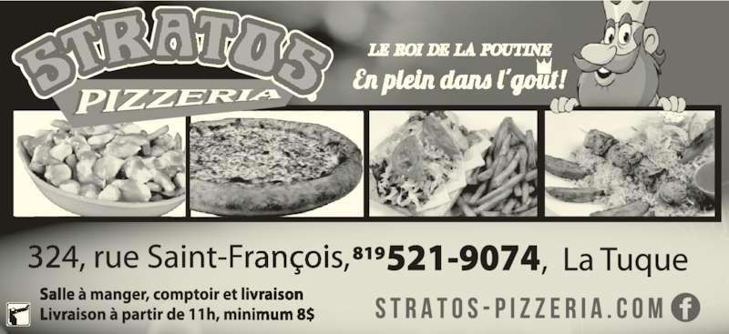 Stratos Pizzeria (819-523-2222) - Annonce illustrée======= -