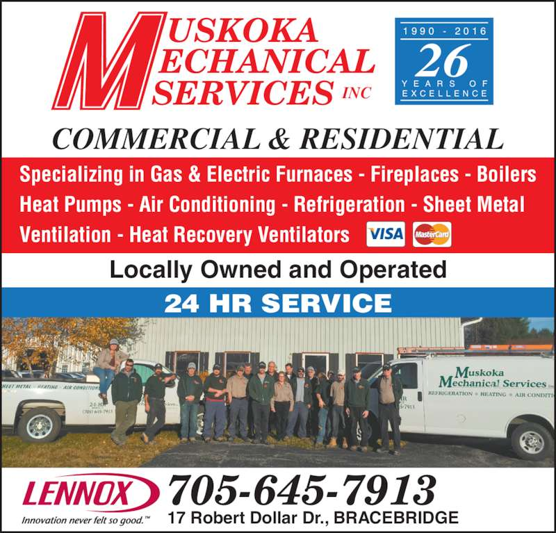 Muskoka Mechanical Service Inc Opening Hours 17 Robert