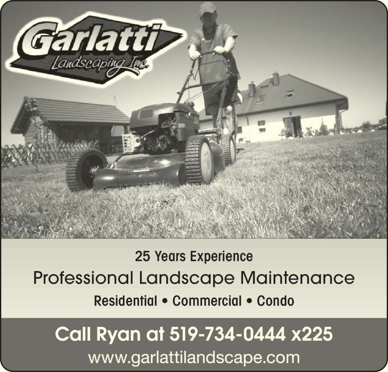 Garlatti landscaping inc windsor on 8455 broderick rd for Landscaping rocks windsor ontario
