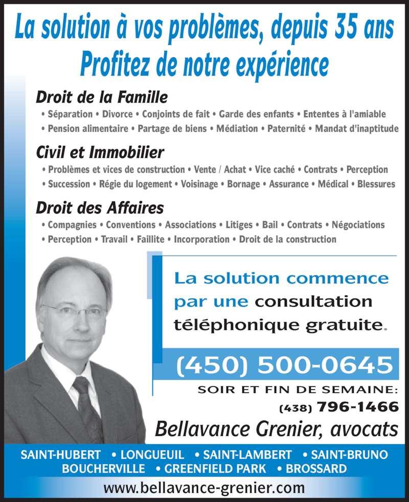 Bellavance grenier horaire d 39 ouverture 102 2103 boul douard saint h - Droit de vente immobilier ...