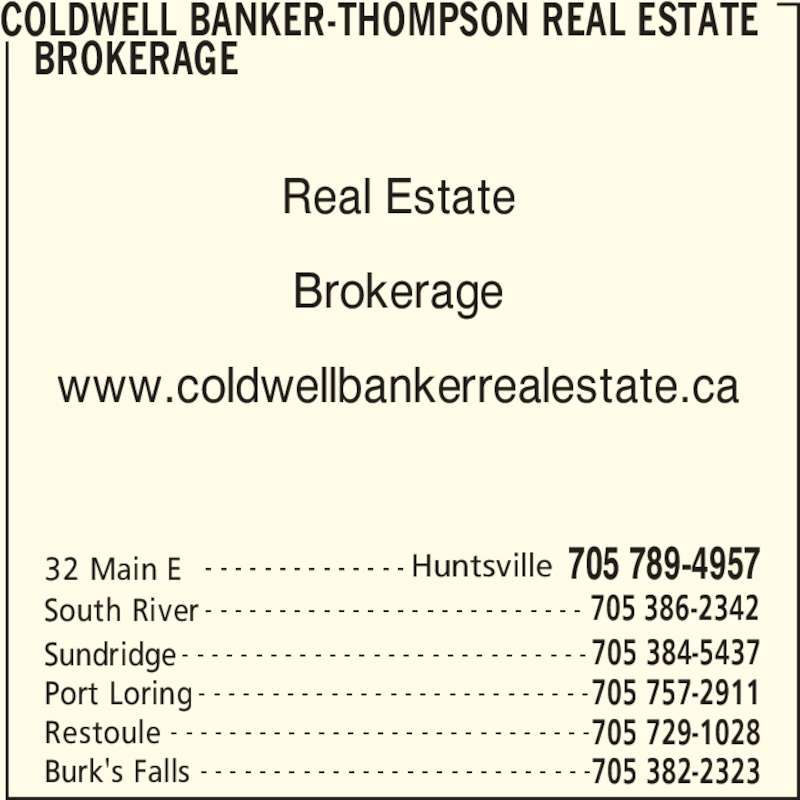 Ads Coldwell Banker-Thompson Real Estate Brokerage