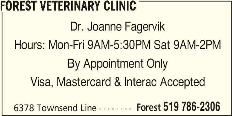 forest veterinary clinic   24 hours   forest on   6378