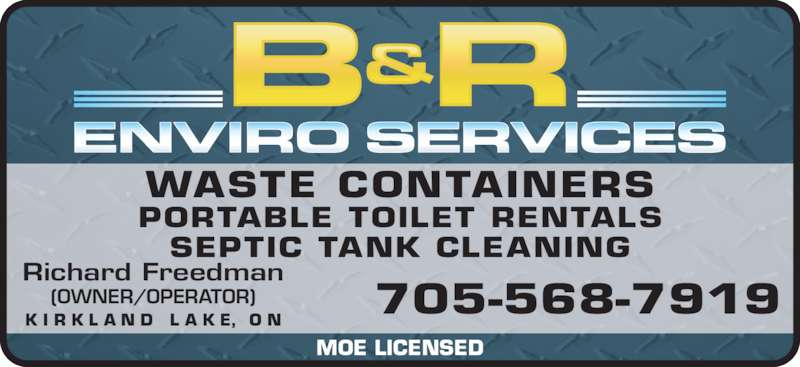 B Amp R Enviro Services Inc Opening Hours