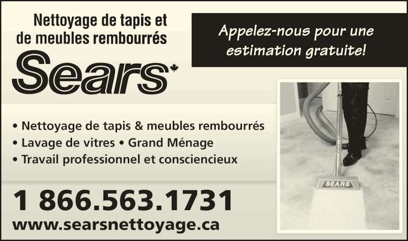 Sears nettoyage r sidentiel canpages fr for Meuble sears montreal