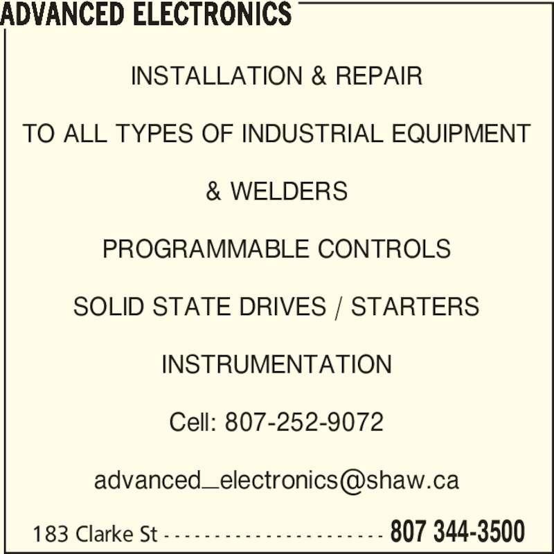 Advanced Electronics Thunder Bay On 183 Clarke St