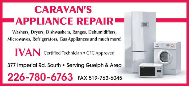 Caravan S Appliance Repair 377 Imperial Rd S Guelph On