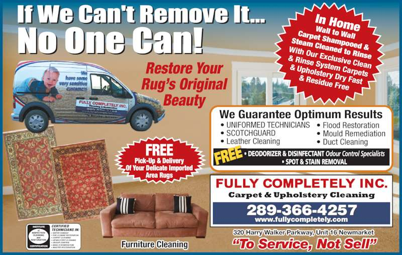 Fully Completely Inc Carpet Amp Upholstery Cleaning