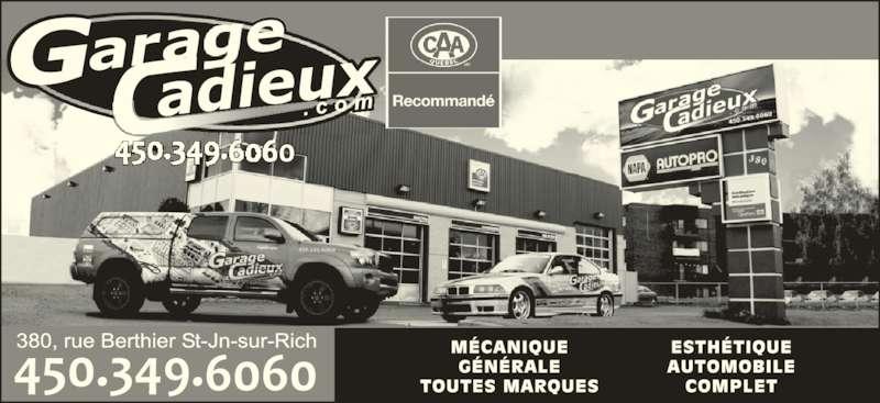 Garage cadieux saint jean sur richelieu qc 380 rue for Garage ad st laurent de la plaine