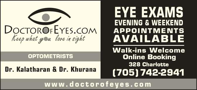 Kawartha Optometric Opening Hours 328 Charlotte St