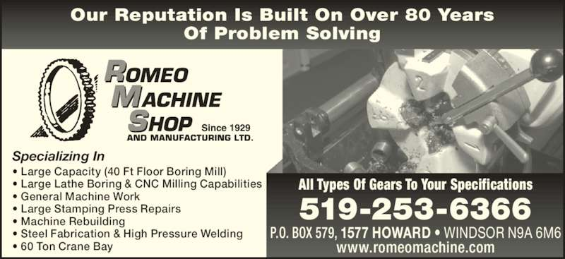 ontario machine shop