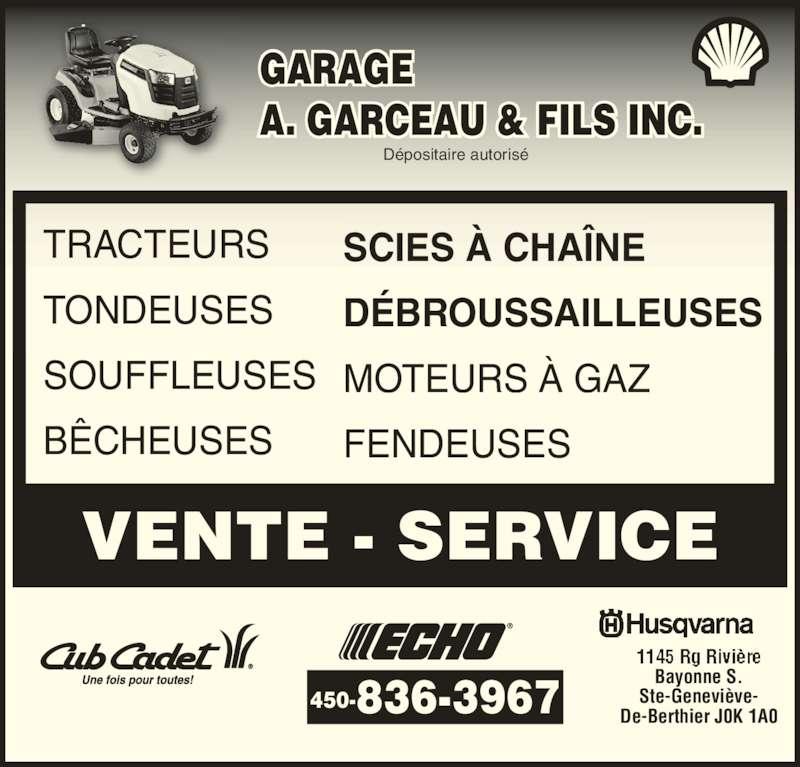 Garage a garceau fils inc horaire d 39 ouverture 1146 - Horaire bus bayonne ...