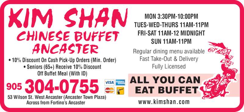 Chinese Food Ancaster Delivery