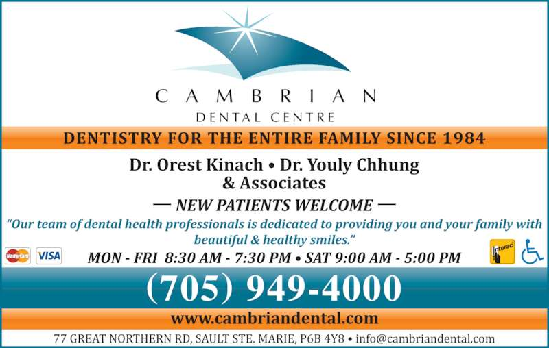 Cambrian Dental Centre (705-949-4000) - Display Ad - C A M B R I A N D E N T A L  C E N T R E (705) 949-4000