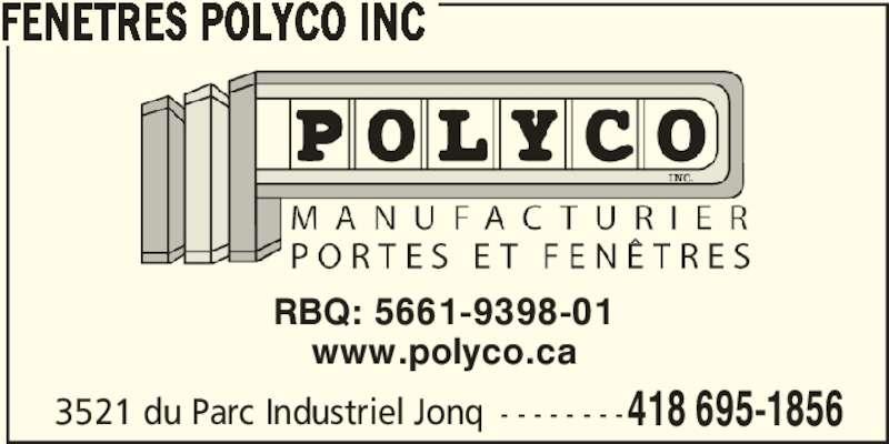 Fen tres polyco inc jonqui re qc 3521 rue du parc for Futura porte et fenetre