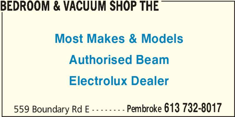 Bedroom Amp Vacuum Shop The Pembroke On 559 Boundary