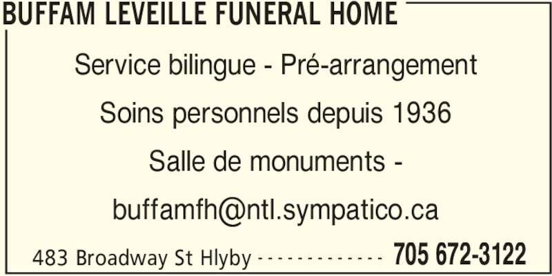 Buffam Leveille Funeral Home In Haileybury