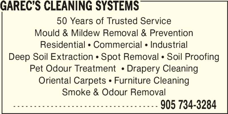 Garec 39 S Cleaning Systems Canpages