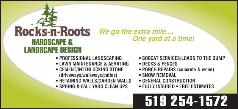 Rocks n roots hardscape landscape design opening hours for Landscaping rocks windsor ontario