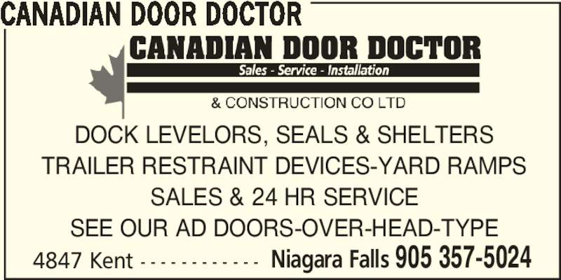 Canadian Door Doctor Niagara Falls On 4847 Kent Ave