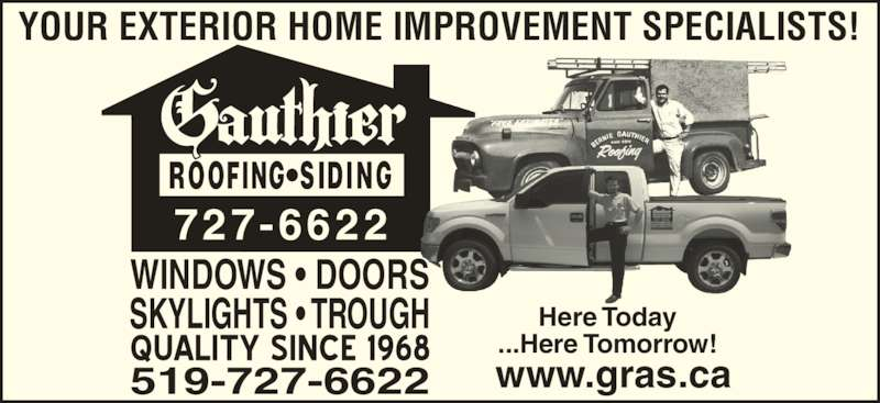 Gauthier Roofing And Siding Tecumseh On 266 County