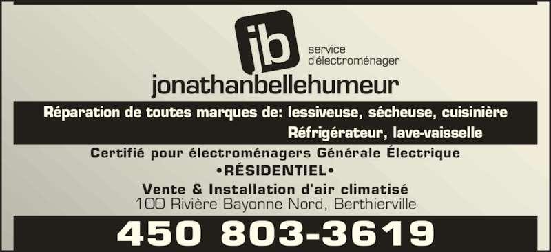 Jonathan bellehumeur enrg horaire d 39 ouverture 100 - Horaire bus bayonne ...
