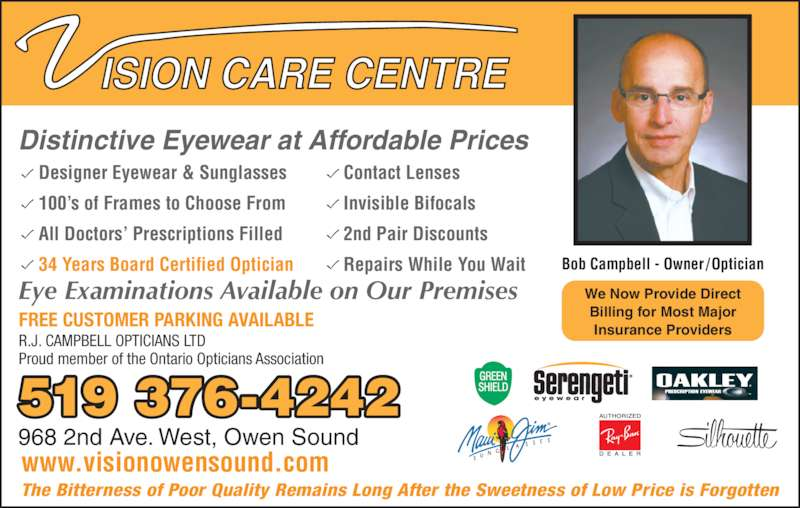Vision Care Centre - Opening Hours - 2F-1969 16th St E ...