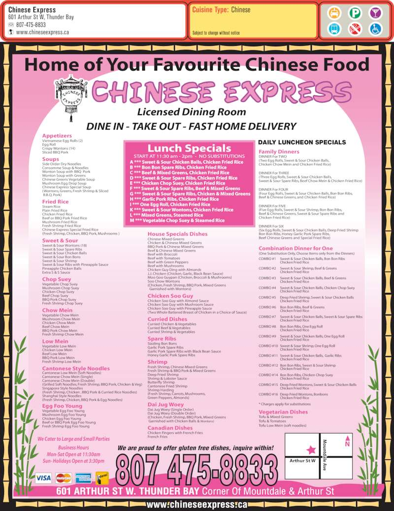 Chinese Food Thunder Bay Delivery