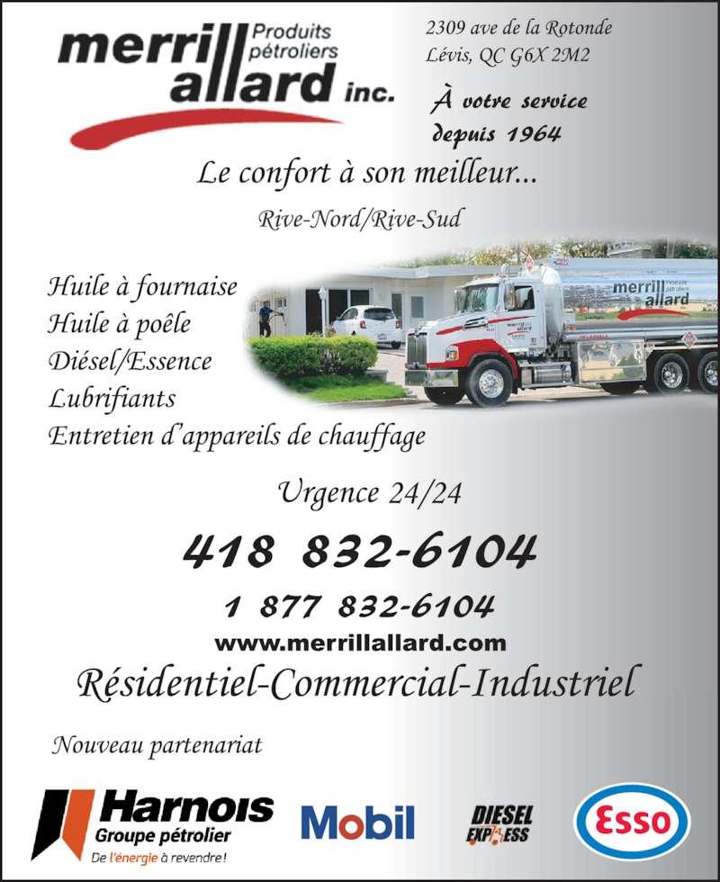 Allard Merrill Inc (418-832-6104) - Annonce illustrée======= -