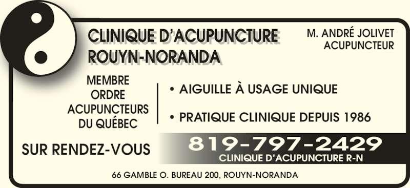 Clinique D'Acupuncture R-N - Horaire d'ouverture - 200-66